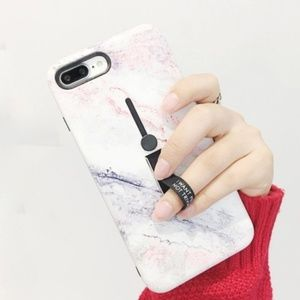 iPhone Max/XR/XS/X/78/Plus Marble Holder Case
